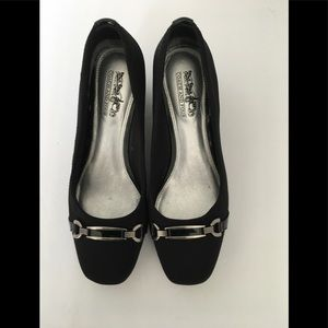 Coach and Four Black Wedge Heels
